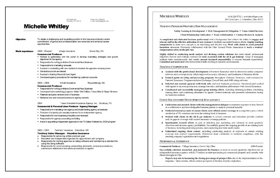 corporate trainer before after resume