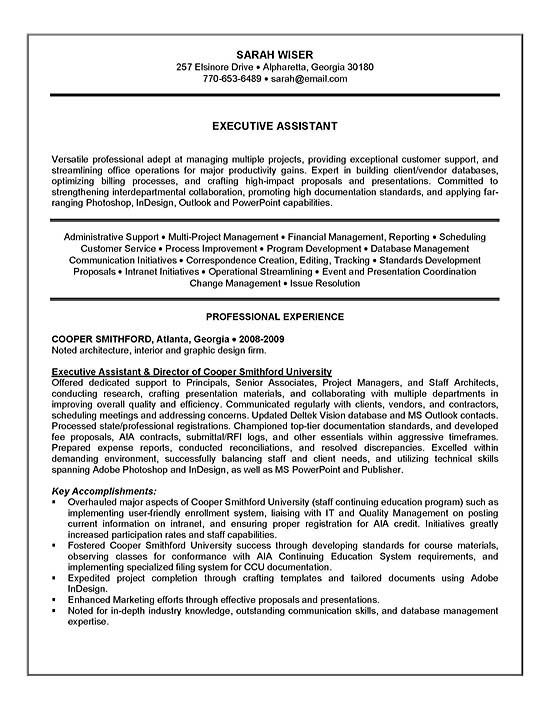 executive administrative assistant resume executive assistant resume example sample 21640 | resume example exad13a