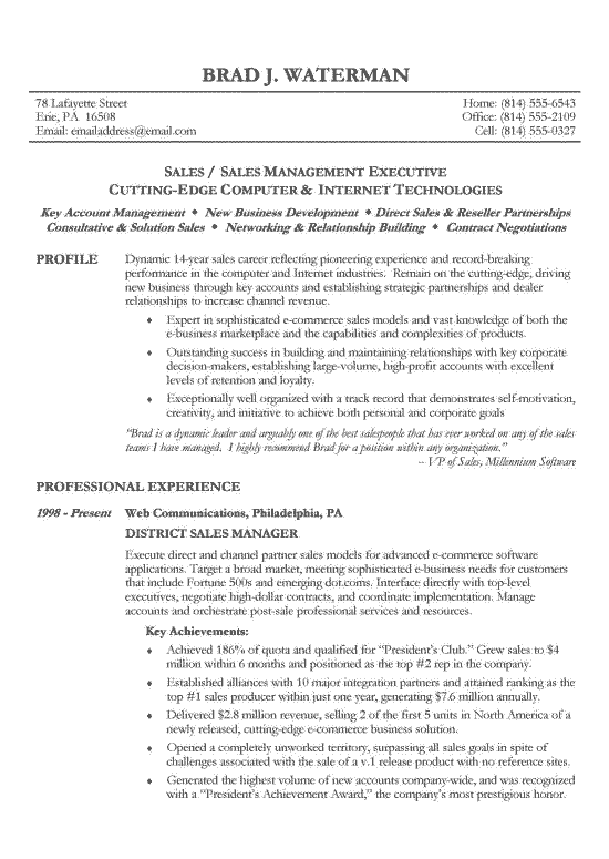 Reverse Chronological Resume Example - Sample