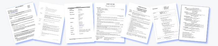 cv curriculum vitae examples