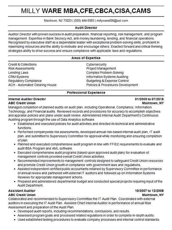 Internal Resume Format from www.resume-resource.com
