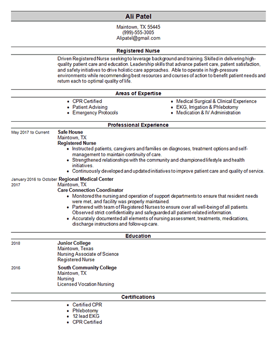 rn-resumes-template | Resume and Cover Letter Examples and