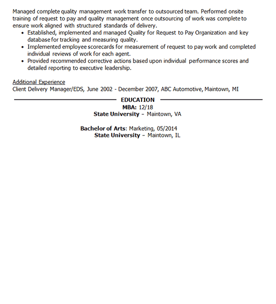 Policy Management Resume Sample